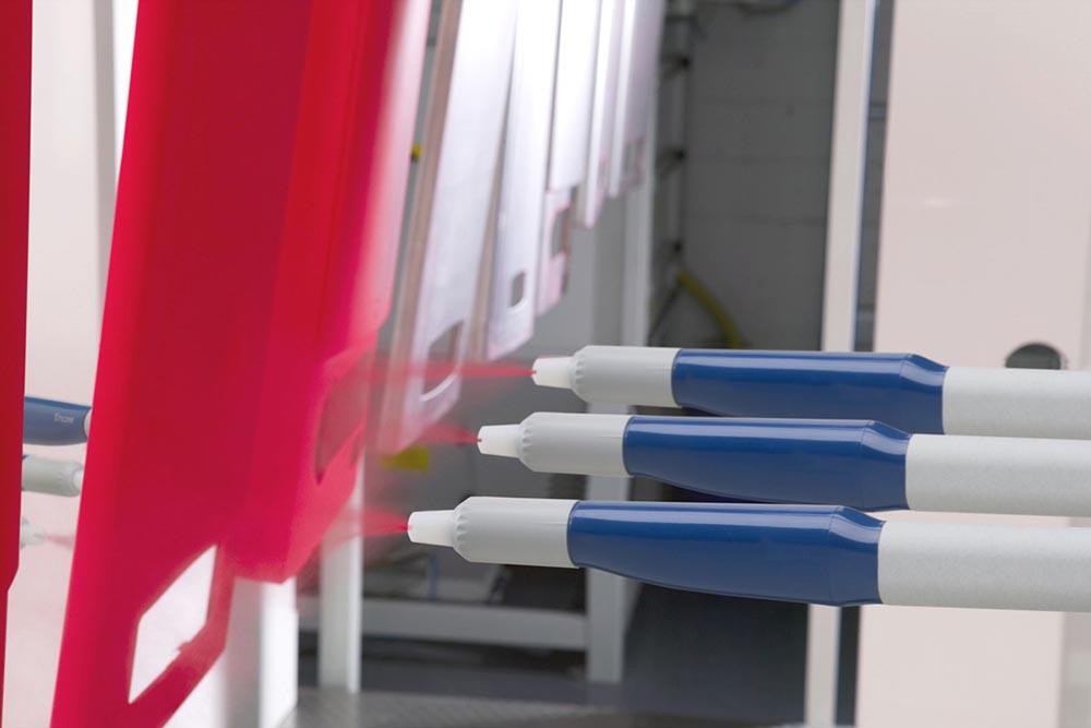 Nordson Spray Gun Red Coating