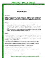 Formcoat 1 PDS