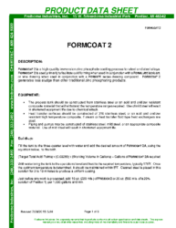 Formcoat 2 PDS