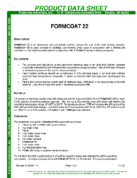 Formcoat 22 PDS