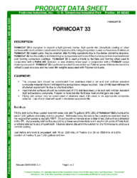 Formcoat 33 PDS