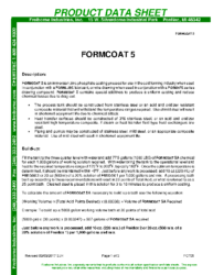Formcoat 5 PDS