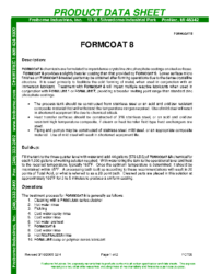 Formcoat 8 PDS