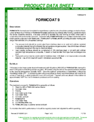Formcoat 9 PDS