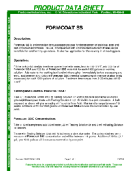 Formcoat SS PDS