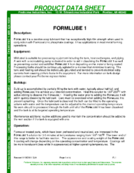 Formlube 1 PDS