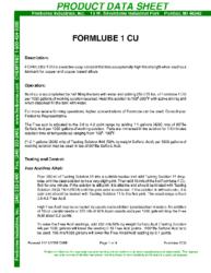 Formlube 1CU PDS