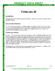 Formlube 30 PDS