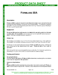 Formlube 50A PDS
