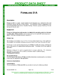 Formlube 51A PDS