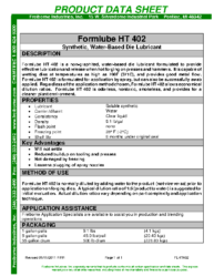 Formlube HT402 PDS