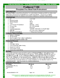 Freibond T100 PDS