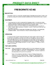 Freibornite HZ-NS PDS