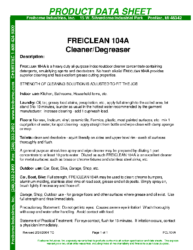 Freiclean 104A PDS