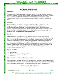 Formlube 407 PDS