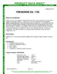 Freiborne OIl 1740 PDS