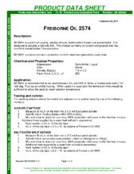 Freiborne Oil 2574 PDS
