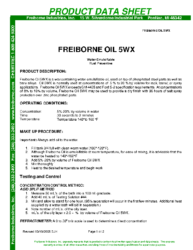 Freiborne Oil 5WX PDS