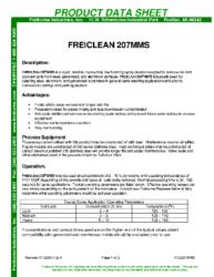 Freiclean 207MMS PDS