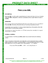 Freiclean ABL PDS